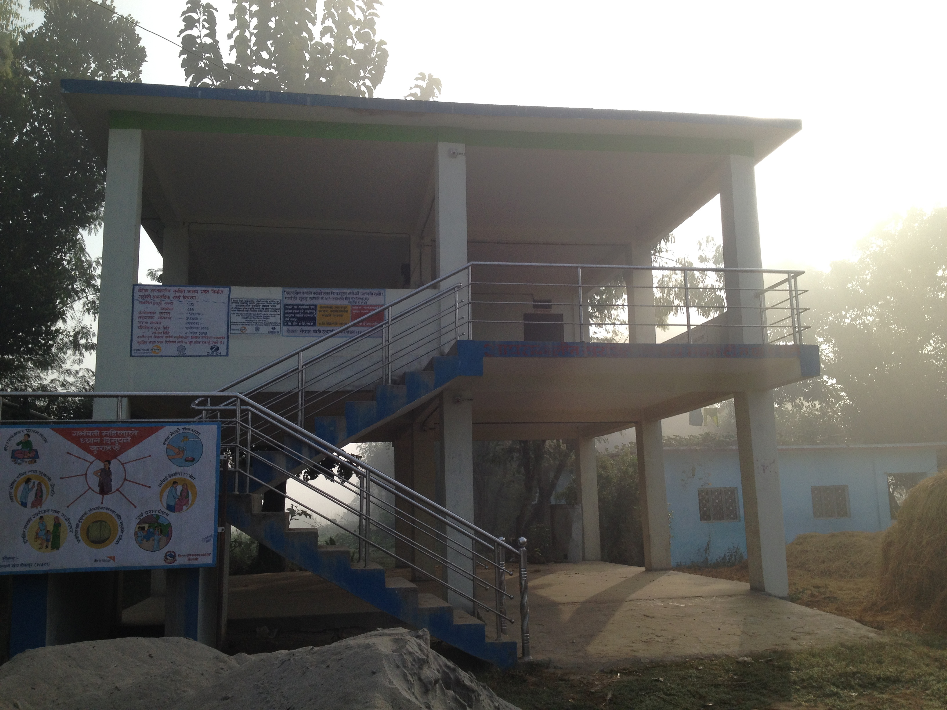 Community shelter in Kailali district used during the floods (Roshan Sedhai)