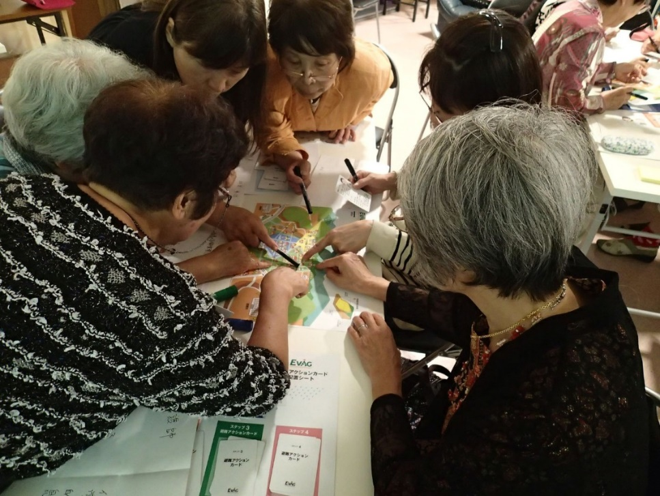 EVAG workshop for a non-profit organization in Iwaki City, an area affected by the Great East Japan Earthquake.