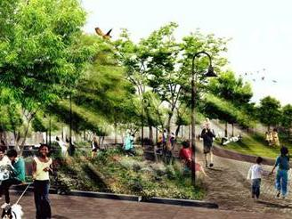 Rendering of Southwest Resiliency Park. (Photo: UNISDR)