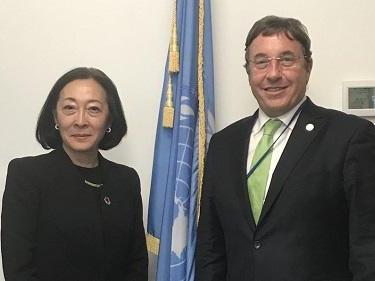 Following their first meeting in New York, UNISDR head, Mami Mizutori, and UNDP Administrator, Achim Steiner, collaborated on an opinion piece about the importance of early warning systems ten years after Cyclone Nargis killed 138,000 people (photo: UN)