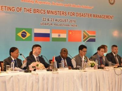 BRICS Ministers met in Udaipur, Rajasthan, over two days to agree collaboration on reducing disaster losses
