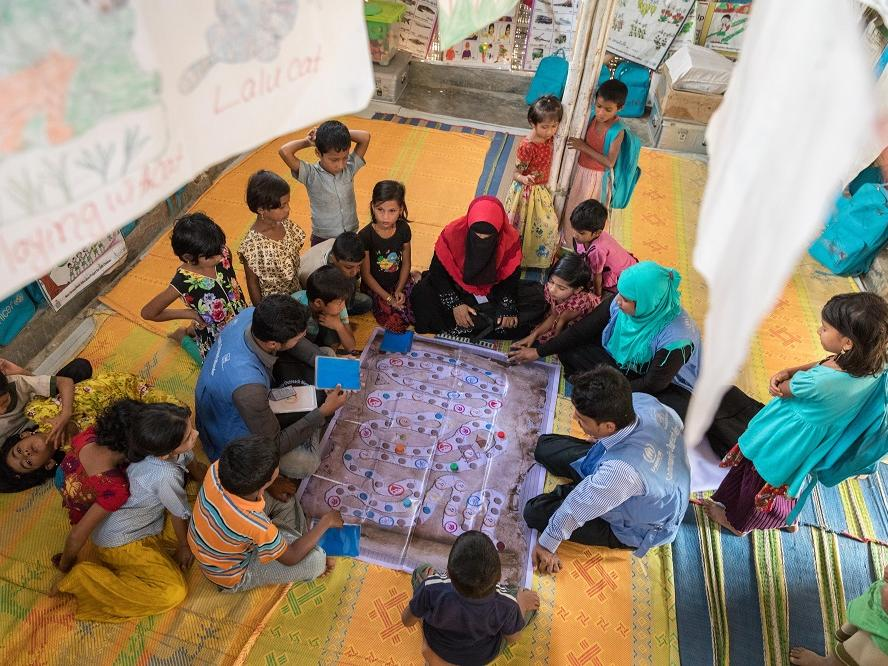 Children in Bangladesh learn DRR through play