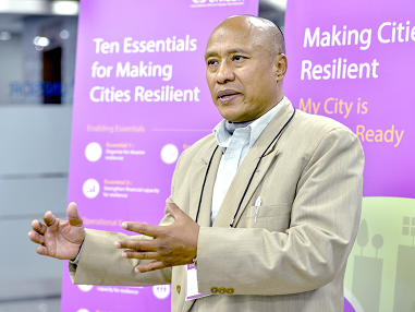 Purusotam Shakya is committed to making Kathmandu more resilient to future earthquakes (photo: UNISDR)