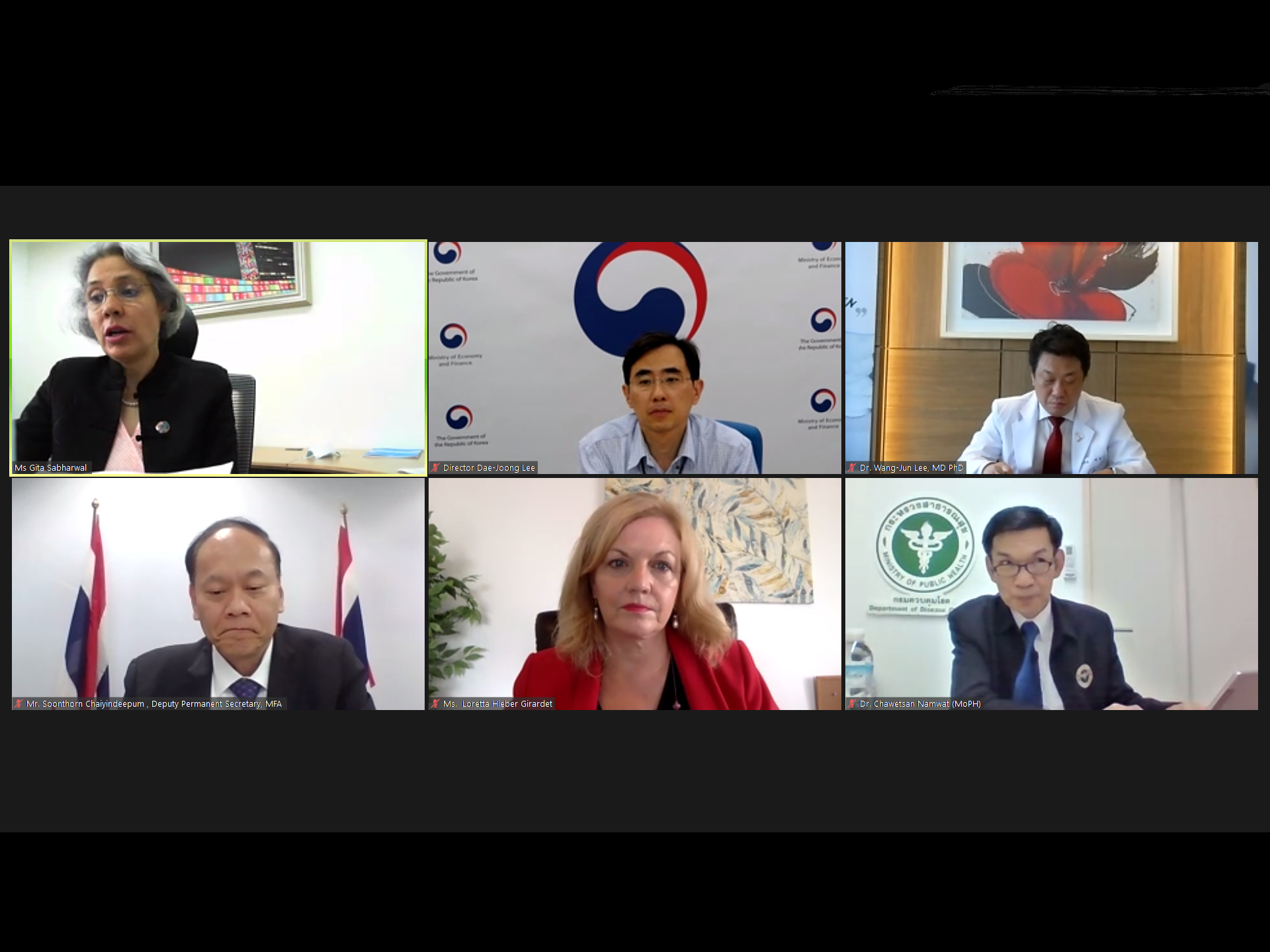 The speakers in the webinar