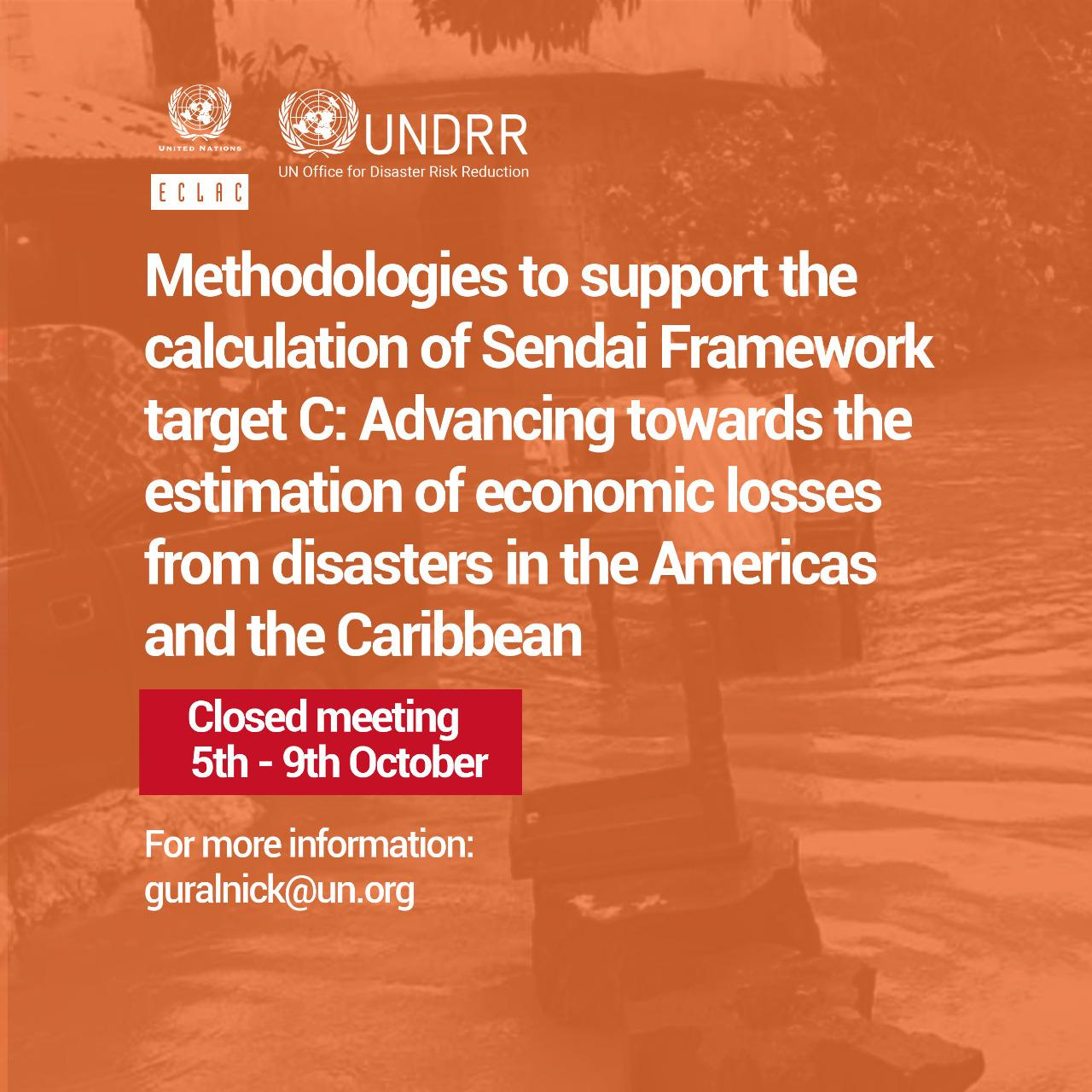 Methodologies to support the calculation of Sendai Framework target C