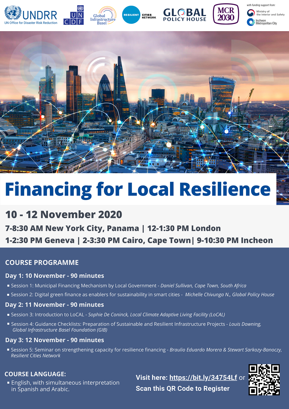 Financing for local resilience flyer