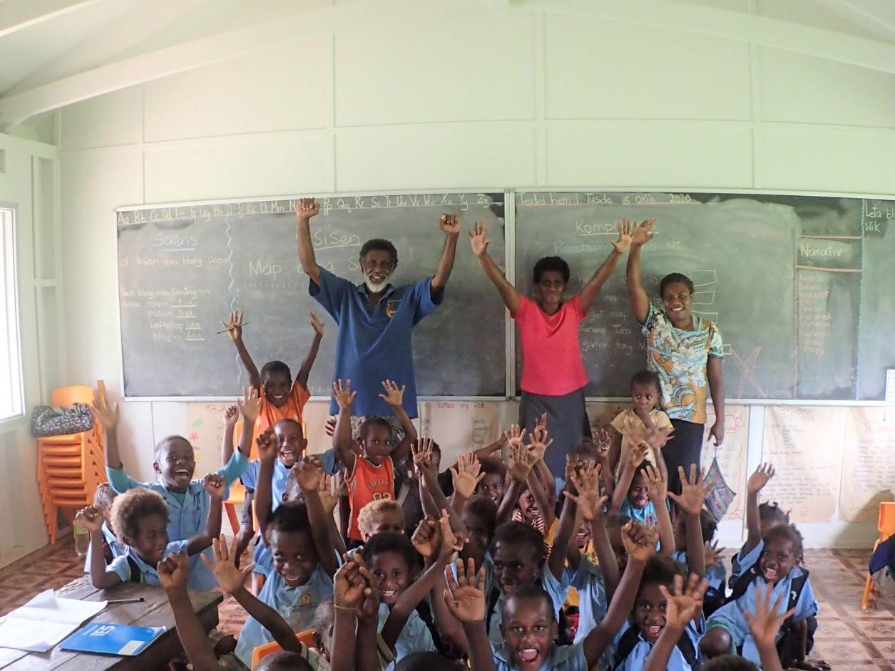 Pupils at a classroom in Balon school, Vanuatu