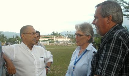 from left to right: José Ramos-Horta, Margareta Wahlström, and Finn Reske Nielsen (Credit: UNDP Timor-Leste)