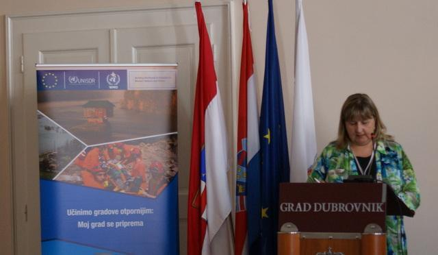 Clarion call: Ms. Anita Buric, Head of Dubrovnik's Department for Municipal Utilities and Local Government emphasizes the importance of building a resilient future.