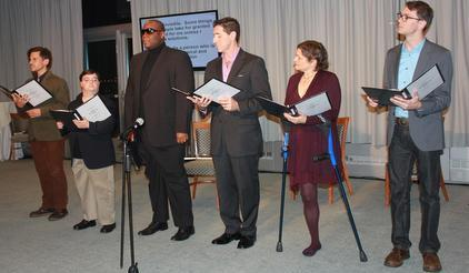 The cast of the off-Broadway Theater Breaking Through Barriers premiered their play 'Ready, Willing and Able' at the UNISDR's New York celebrations for the 2013 International Day for Disatser Reduction.