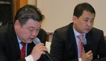 Mongolia's NEMA Chief Mr Dulamdorj Togooch (left) said the HFA had enabled his country to 'achieve several positive outcomes'.
