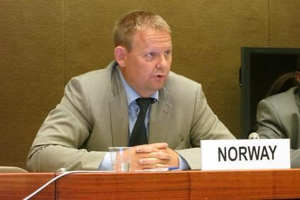 Erling Kvernevik, Senior Advisor at the Norwegian Directorate for Civil Protection speaking today at the First Preparatory Committee Meeting for the Third UN World Conference on Disaster Risk Reduction.