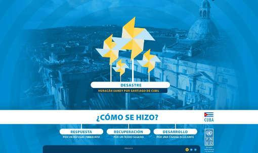 """The Recovery of Santiago de Cuba after Hurricane Sandy"", developed by UNDP in Cuba in collaboration with the Faculty of Construction, University of Oriente (Photo: UNDP)"