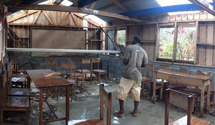 Cyclone Pam caused devastation across many of the 65 inhabited islands of Vanuatu and damaged many schools. (Photo: UNDP)