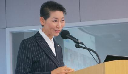 Ms Sungjoo Kim, President of Korea Red Cross and Chairperson/Chief Visionary Officer of the Sungjoo Group, believes private sector has a key role to play in DRR. (Photo: UNISDR)