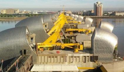 The Thames Barrier is one of the largest movable flood barriers in the world (Photo: Environment Agency)