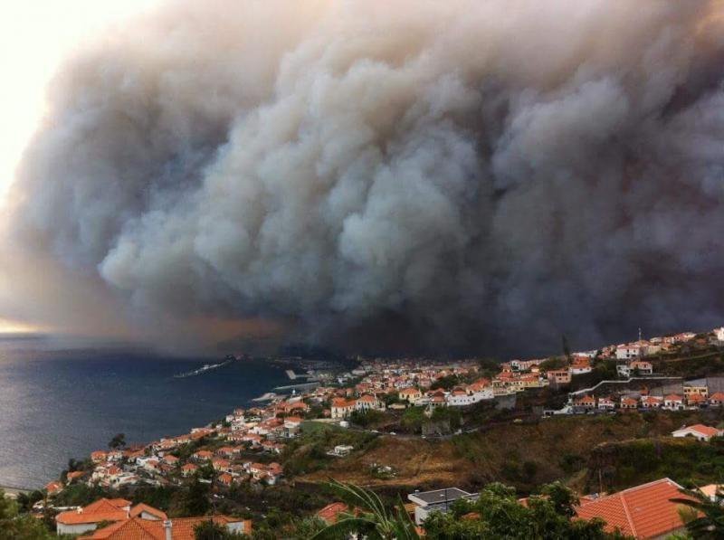 Portugal is battling wildfires both on the mainland and on the Atlantic island of Madeira pictured here.