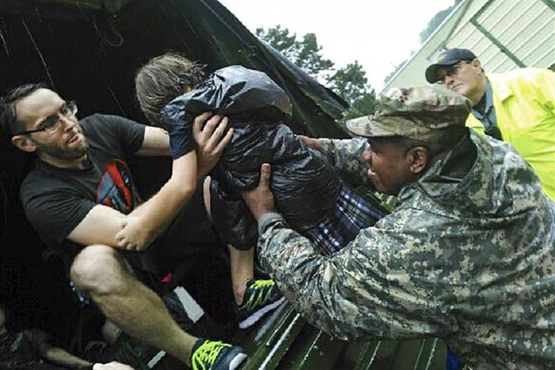 The US National Guard is taking part in flood rescue operations across Louisiana (Photo: US Department of Defense)