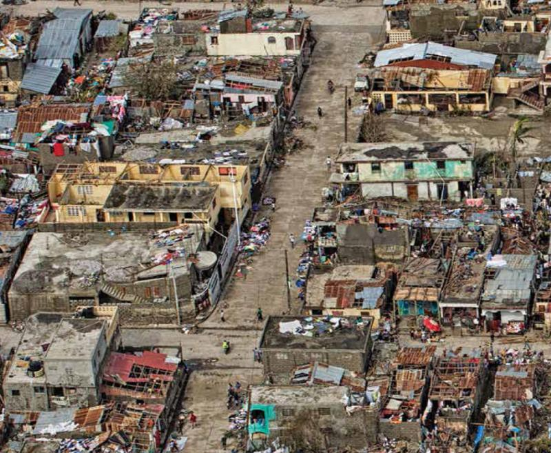 The town of Les Cayes after it was hit by Hurricane Matthew (credit: MINUSTAH)