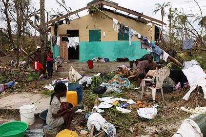 Photo: © EU/ECHO/J. Torres - Haitian families in Grand'Anse Department lost most of their possessions after hurricane Matthew.