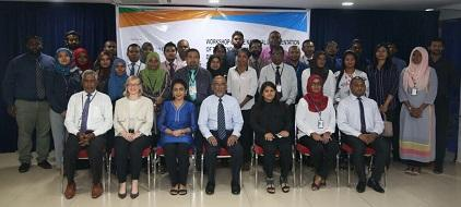 Participants at the workshop in the Maldives spotlighted the links between disaster risk reduction, sustainable development and climate change action (Photo: UNISDR)