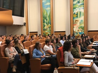 Students attend the UN Geneva Seminar Series on 12 October (Photo: UNISDR)