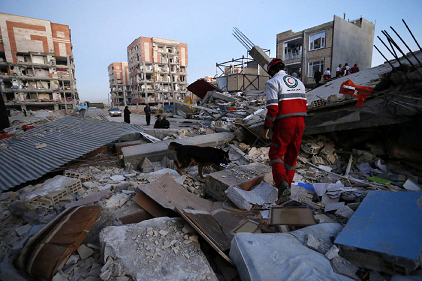 Damage to buildings in recent earthquake in Iran (photo: Times Free Press)