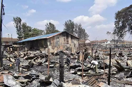 After the fire in Kijiji slums in January 2018 (photo: Flickr, Mbah Patrick)