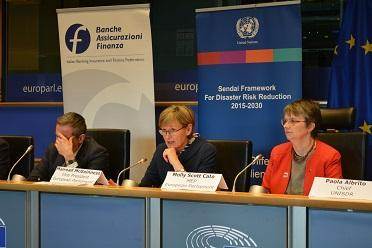 Mairead McGuinness, Vice-President of the European Parliament, speaking on resilience to disasters and sustainable finance