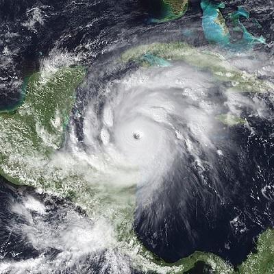 Hurricane Mitch at peak intensity on October 26, 1998 at 19:15 UTC. At the time, it was a Category 5 hurricane. (Credit: NOAA/NASA Satellite image)