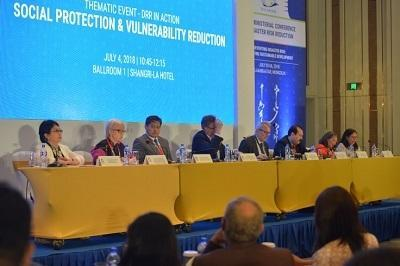 Panel discussion on social protection at the Asian Ministerial Conference on Disaster Risk Reduction
