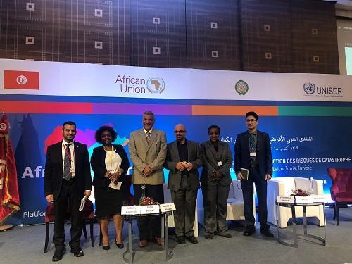 Panellists at the World Tsunami Awareness Day session at the Africa-Arab States Platform on Disaster Risk Reduction