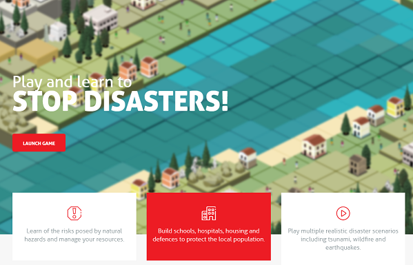The Stop Disasters Game encourages thinking about preparedness and emergency planning