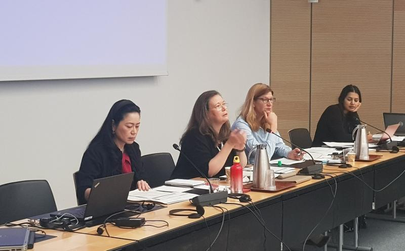 Kirsi Madi, Director of UNISDR (second from left) launches the Stakeholder Engagement Mechanism