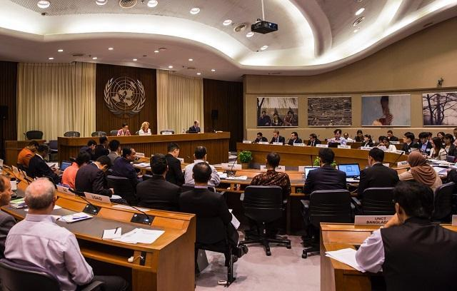 Photo of the opening session of the workshop in the UN Conference Center Bangkok
