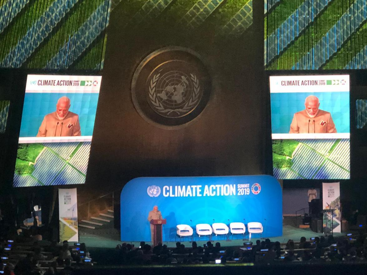 Indian Prime Minister, Narendra Modi, launches the Coalition for Disaster Resilient Infrastructure at the UN Climate Action Summit