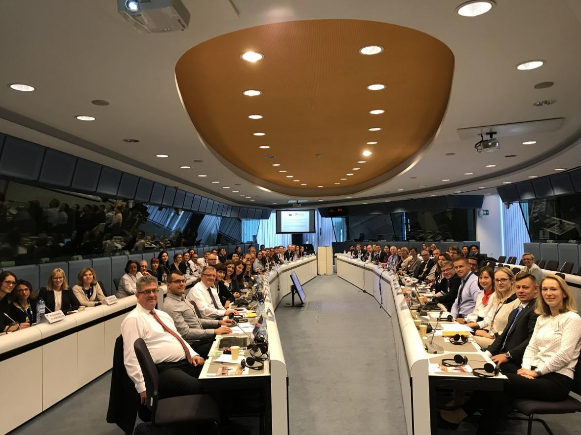 Participants at meeting of European Sendai Framework focal points and civil protection representatives