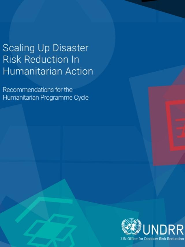 Cover page of the report Scaling up Disaster Risk Reduction in Humanitarian Action