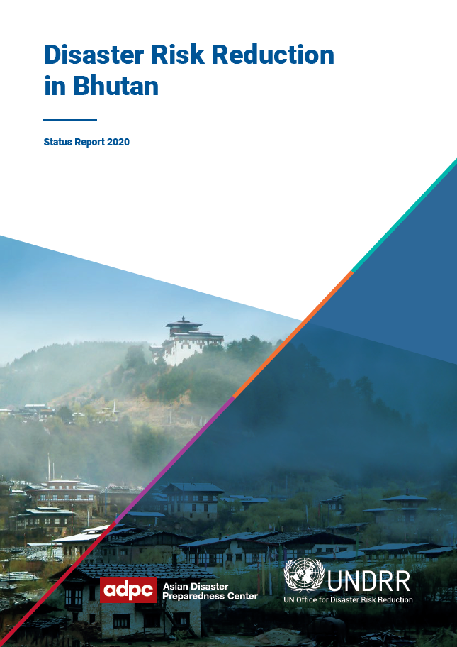 Cover of Disaster Risk Reduction in Bhutan: Status Report 2020