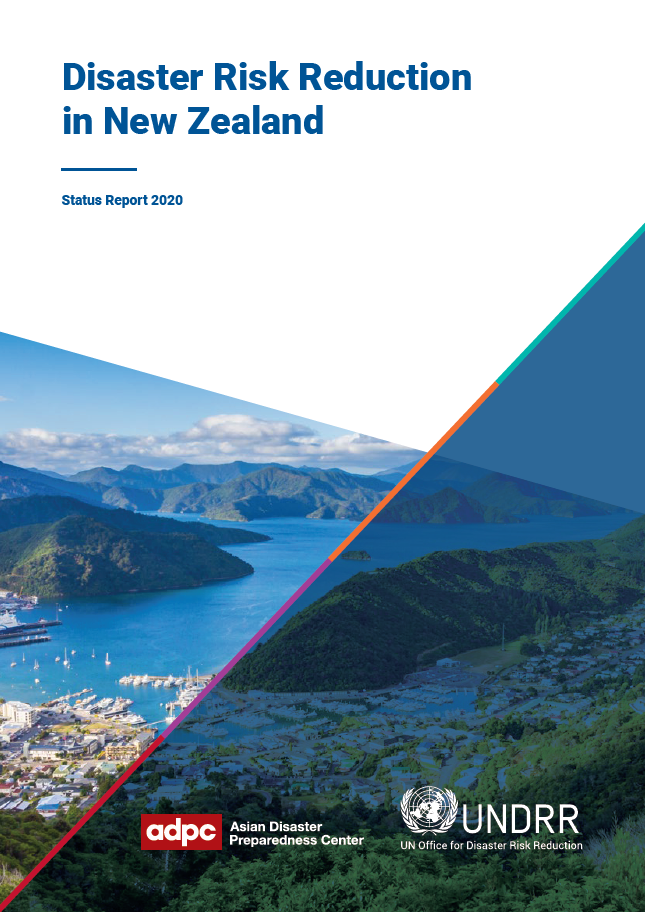 Cover of Disaster Risk Reduction in New Zealand Status Report 2020